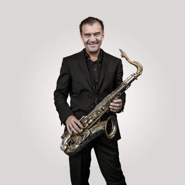 Musiker Sax Weihnachtsessen Saxophonist